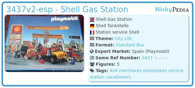 Playmobil 3437v2-esp - Shell Gas Station