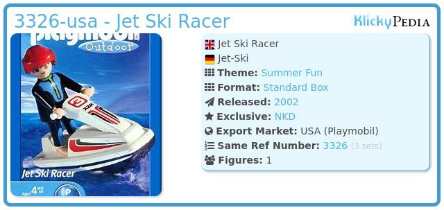 Playmobil 3326-usa - Jet Ski Racer