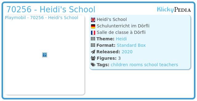 Playmobil 70256 - Schulunterricht im Dörfli