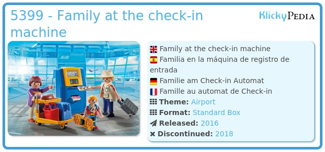 Playmobil 5399 - Family at the check-in machine