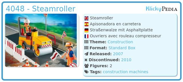 Playmobil 4048 - Steamroller