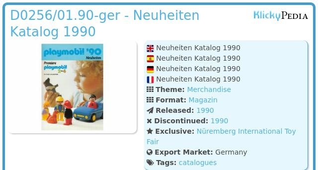 Playmobil D0256/01.90-ger - Neuheiten Katalog 1990