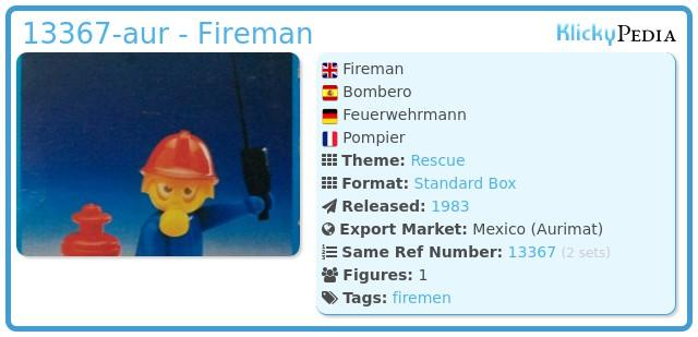 Playmobil 13367-aur - Fireman
