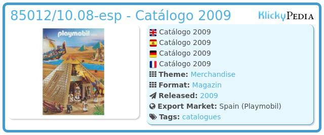 Playmobil 85012/10.08-esp - Catálogo 2009