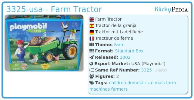 Playmobil 3325-usa - Farm Tractor