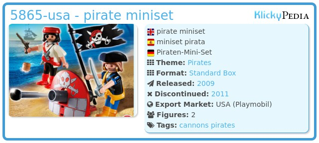 Playmobil 5865-usa - pirate miniset