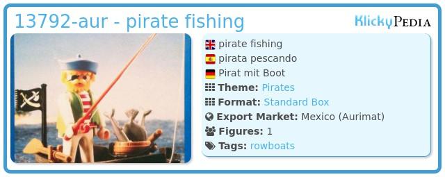 Playmobil 13792-aur - pirate fishing