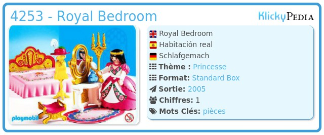 Playmobil 4253 - Royal Bedroom