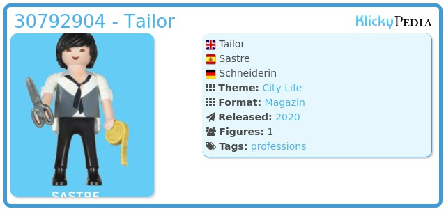 Playmobil 30792904 - Tailor