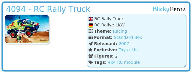 Playmobil 4094 - RC Rally Truck