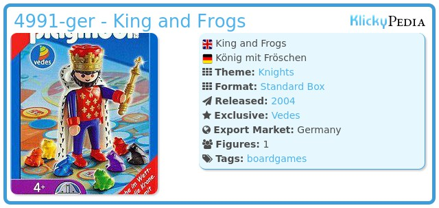 Playmobil 4991-ger - King and Frogs
