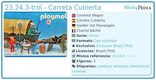 Playmobil 23.24.3-trol - Carreta