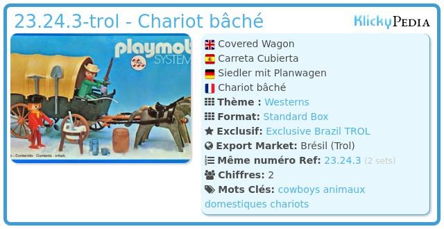 Playmobil 23.24.3-trol - Chariot & cowboys