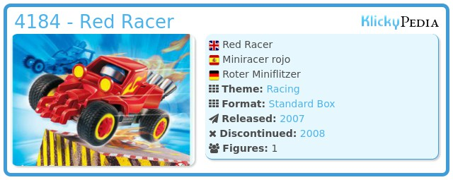 Playmobil 4184 - Red Racer