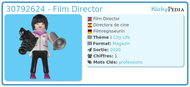 Playmobil 30792624 - Film Director