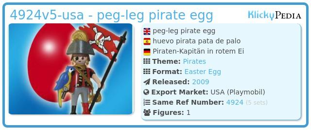 Playmobil 4924v5-usa - peg-leg pirate egg