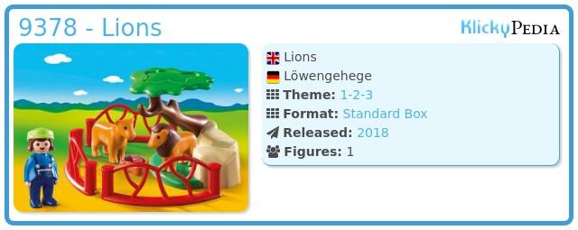 Playmobil 9378 - Lions