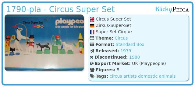 Playmobil 1790-pla - Circus Super Set