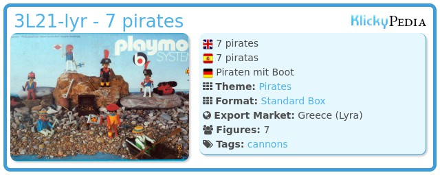 Playmobil 3L21-lyr - 7 pirates