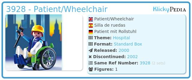 Playmobil 3928 - Patient/Wheelchair