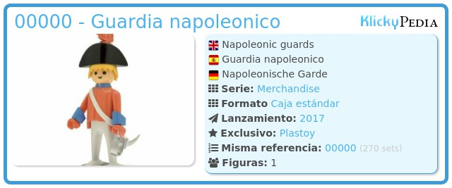 Playmobil 00000 - Guardia napoleonico
