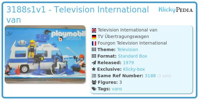 Playmobil 3188s1v1 - Television International van
