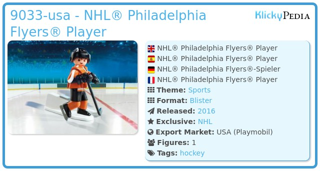 Playmobil 9033-usa - NHL® Philadelphia Flyers® Player