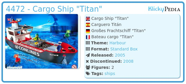 Playmobil 4472 - Cargo Ship