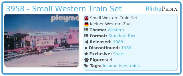 Playmobil 3958 - Small Western Train Set