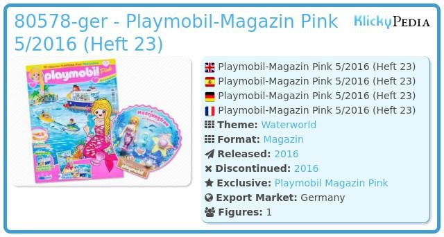 Playmobil 00000-ger - Playmobil Magazin Pink 05/2016 (Heft 23)