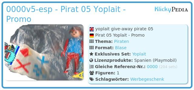 Playmobil 0000v5-esp - Pirat 05 Yoplait - Promo