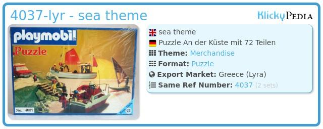 Playmobil 4037-lyr - sea theme
