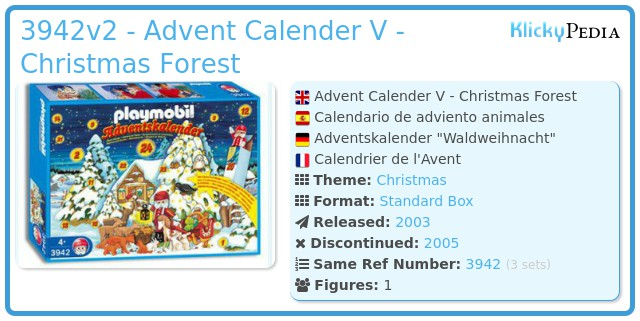 Playmobil 3942v2 - Advent Calender V - Christmas Forest