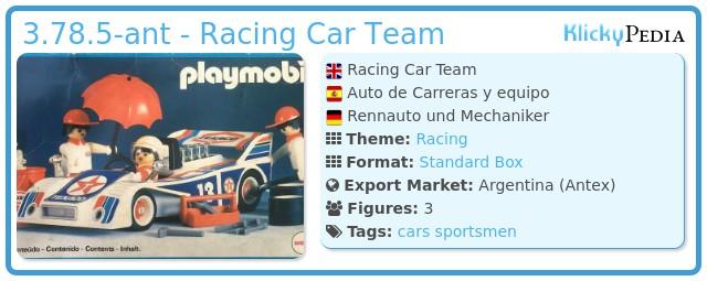 Playmobil 3.78.5-ant - Racing Car Team