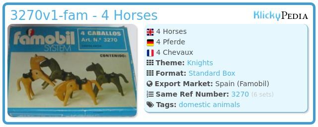 Playmobil 3270v1-fam - 4 Horses