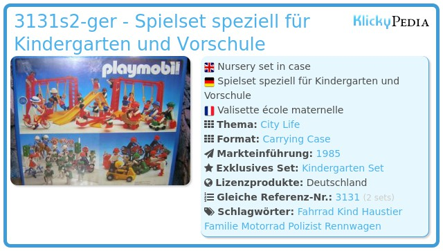 Playmobil 3131s2-ger - Kindergarten Set