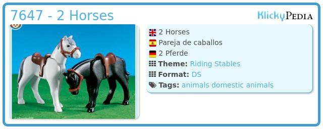 Playmobil 7647 - 2  Horses