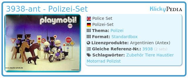 Playmobil 3938-ant - Polizei-Set
