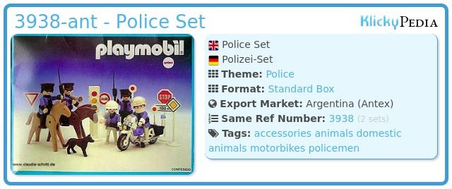 Playmobil 3938-ant - Police Set