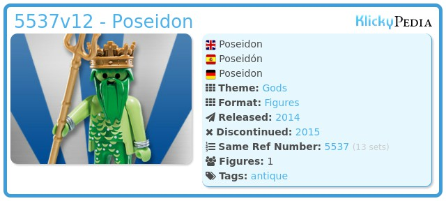 Playmobil 5537v12 - Poseidon