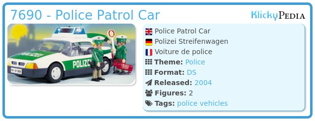 Playmobil 7690 - Police Patrol Car