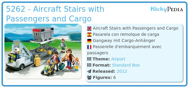 Playmobil 5262 - Aircraft Stairs with Passengers and Cargo