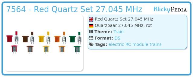 Playmobil 7564 - Red Quartz Set 27.045 MHz
