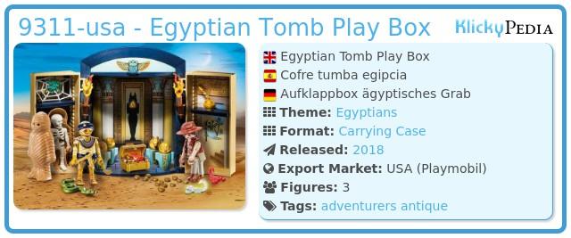 Playmobil 9311-usa - Egyptian Tomb Play Box