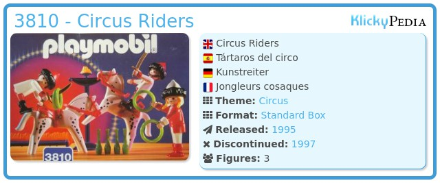 Playmobil 3810 - Circus Riders