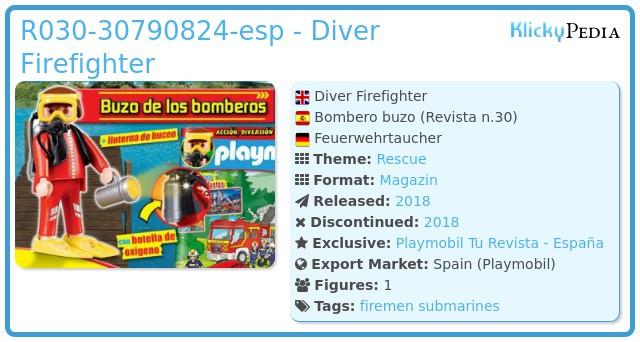 Playmobil R030-30790824-esp - Diver Firefighter