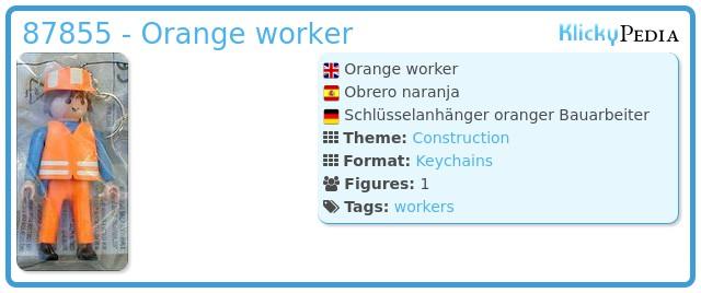 Playmobil 87855 - Orange worker