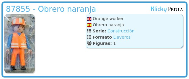 Playmobil 87855 - Obrero naranja
