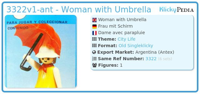 Playmobil 3322v1-ant - Woman with Umbrella