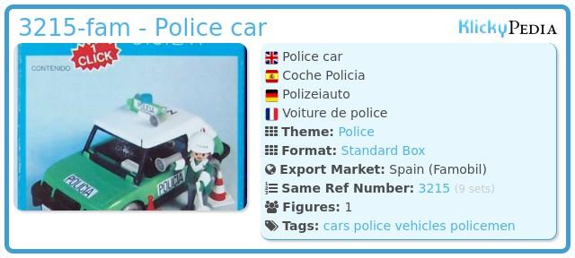 Playmobil 3215-fam - Police car